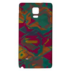Geometric Shapes In Retro Colors			samsung Note 4 Hardshell Back Case by LalyLauraFLM