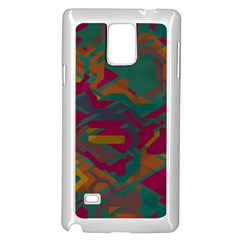 Geometric Shapes In Retro Colorssamsung Galaxy Note 4 Case (white) by LalyLauraFLM