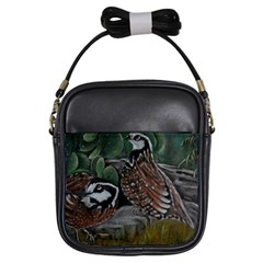 Bobwhite Quails Girls Sling Bags by timelessartoncanvas
