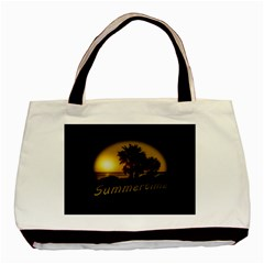 Sunset Scene at the Coast of Montevideo Uruguay Basic Tote Bag  by dflcprints