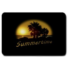 Sunset Scene At The Coast Of Montevideo Uruguay Large Doormat  by dflcprints
