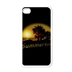Sunset Scene At The Coast Of Montevideo Uruguay Apple Iphone 4 Case (white) by dflcprints