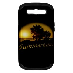 Sunset Scene At The Coast Of Montevideo Uruguay Samsung Galaxy S Iii Hardshell Case (pc+silicone) by dflcprints