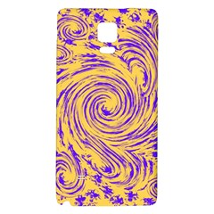 Purple And Orange Swirling Design Galaxy Note 4 Back Case by JDDesigns