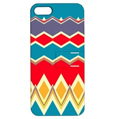 Chevrons And Rhombus			apple Iphone 5 Hardshell Case With Stand by LalyLauraFLM