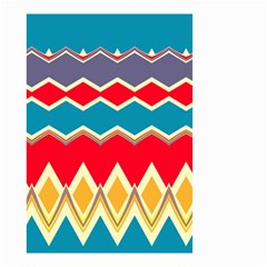 Chevrons And Rhombus Small Garden Flag by LalyLauraFLM