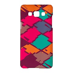 Pieces In Retro Colorssamsung Galaxy A5 Hardshell Case by LalyLauraFLM