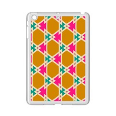 Connected shapes patternApple iPad Mini 2 Case (White) by LalyLauraFLM