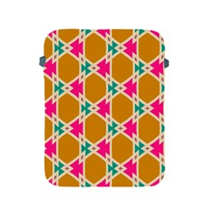 Connected Shapes Pattern			apple Ipad 2/3/4 Protective Soft Case by LalyLauraFLM