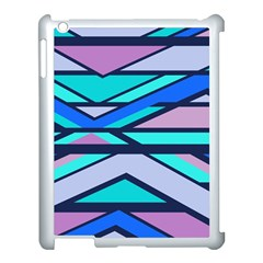 Angles And Stripes			apple Ipad 3/4 Case (white) by LalyLauraFLM