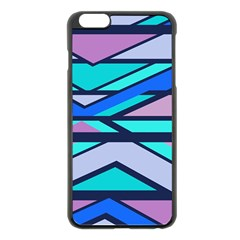Angles And Stripes			apple Iphone 6 Plus/6s Plus Black Enamel Case by LalyLauraFLM
