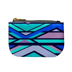 Angles And Stripes 	mini Coin Purse by LalyLauraFLM