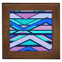 Angles And Stripes			framed Tile by LalyLauraFLM