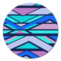 Angles And Stripes			magnet 5  (round) by LalyLauraFLM