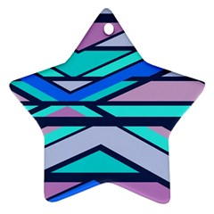 Angles And Stripes			ornament (star) by LalyLauraFLM