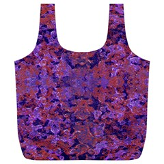 Intricate Patterned Textured  Full Print Recycle Bags (l)  by dflcprints