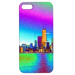Chicago Colored Foil Effects Apple Iphone 5 Hardshell Case With Stand by canvasngiftshop