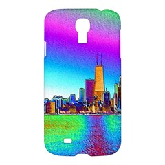 Chicago Colored Foil Effects Samsung Galaxy S4 I9500/i9505 Hardshell Case by canvasngiftshop
