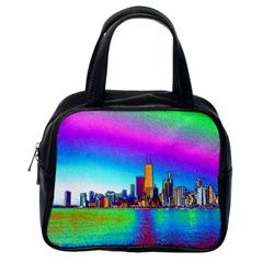 Chicago Colored Foil Effects Classic Handbags (One Side) by canvasngiftshop
