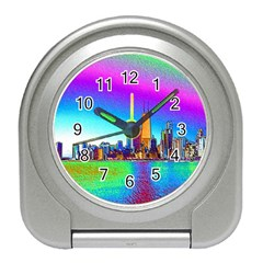 Chicago Colored Foil Effects Travel Alarm Clocks by canvasngiftshop
