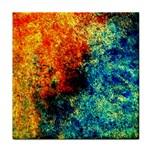 Orange Blue Background Tile Coasters