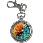 Orange Blue Background Key Chain Watches