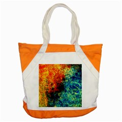 Orange Blue Background Accent Tote Bag  by Costasonlineshop