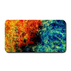 Orange Blue Background Medium Bar Mats by Costasonlineshop