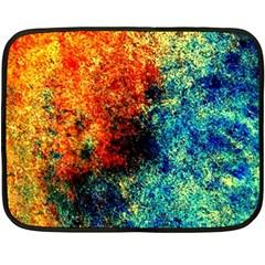 Orange Blue Background Fleece Blanket (mini) by Costasonlineshop