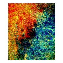 Orange Blue Background Shower Curtain 60  X 72  (medium)  by Costasonlineshop