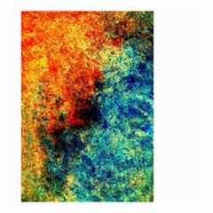 Orange Blue Background Small Garden Flag (two Sides) by Costasonlineshop