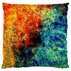 Orange Blue Background Standard Flano Cushion Cases (one Side)  by Costasonlineshop
