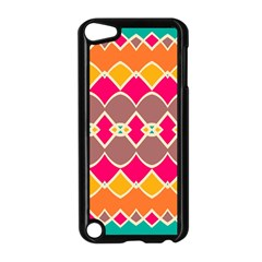 Symmetric Shapes In Retro Colorsapple Ipod Touch 5 Case (black) by LalyLauraFLM