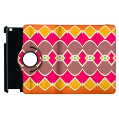Symmetric Shapes In Retro Colors			apple Ipad 2 Flip 360 Case by LalyLauraFLM