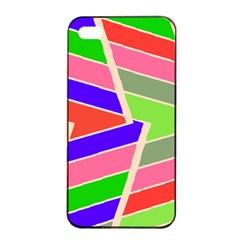 Symmetric Distorted Rectanglesapple Iphone 4/4s Seamless Case (black) by LalyLauraFLM