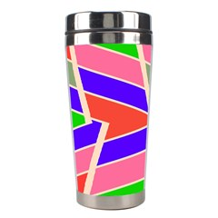 Symmetric Distorted Rectangles Stainless Steel Travel Tumbler by LalyLauraFLM