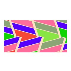 Symmetric Distorted Rectangles Satin Wrap by LalyLauraFLM