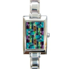 Abstract Square Wall Rectangle Italian Charm Watches by Costasonlineshop