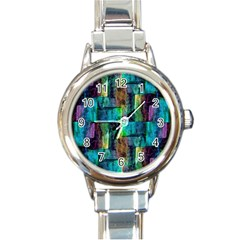 Abstract Square Wall Round Italian Charm Watches by Costasonlineshop