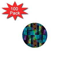 Abstract Square Wall 1  Mini Buttons (100 Pack)  by Costasonlineshop