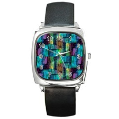 Abstract Square Wall Square Metal Watches by Costasonlineshop
