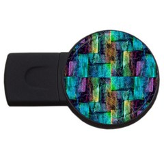 Abstract Square Wall Usb Flash Drive Round (4 Gb)  by Costasonlineshop