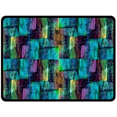 Abstract Square Wall Fleece Blanket (large)  by Costasonlineshop