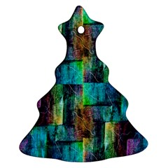 Abstract Square Wall Ornament (christmas Tree) by Costasonlineshop