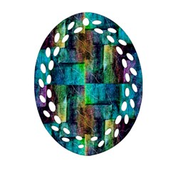 Abstract Square Wall Oval Filigree Ornament (2 Side)  by Costasonlineshop