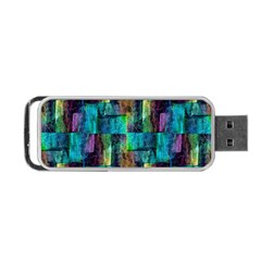Abstract Square Wall Portable Usb Flash (one Side) by Costasonlineshop