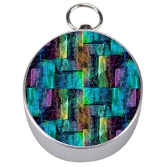Abstract Square Wall Silver Compasses by Costasonlineshop