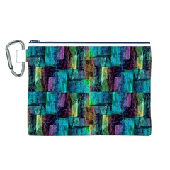 Abstract Square Wall Canvas Cosmetic Bag (l) by Costasonlineshop