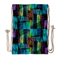 Abstract Square Wall Drawstring Bag (large) by Costasonlineshop