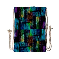 Abstract Square Wall Drawstring Bag (small) by Costasonlineshop